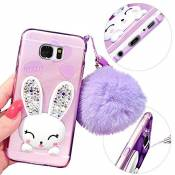 MOMDAD Souple Silicone Coque Samsung Galaxy S6 Edge Plus TPU Coque Samsung Galaxy S6 Edge Plus TPU Bumper Samsung Galaxy S6 Edge Plus Case de Protection TPU Silicone Samsung Galaxy S6 Edge Plus Neuf Absorption de Choc Coque de Protection en TPU Téléphone Mobile Case-Purple