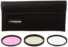 Polaroid Optics Ensemble de 3 filtres 62 mm (UV, CPL, FLD)