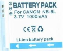 2x Batterie NB-6L Canon Powershot Cameras SD770 IS, SD1200 IS, S90 & D10