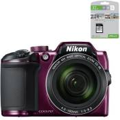 NIKON COOLPIX B500 Appareil photo numérique Bridge - Bluetooth - Violet + PNY Carte mémoire Offerte SD 32Go Elite C10 U1 O