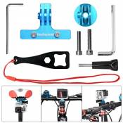 Fantaseal Kit SupportVélo, Support Selle Bicyclette en Aluminum,Selle Clip VTT pour GoPro Caméra Sport,GoPro Hero 5 Black/ Hero4 /3+/3/ Session Garmin