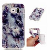 MUTOUREN Coque Samsung Galaxy S6 Edge persillage Case Ultra Mince Protection en TPU Silicone Housse Etui Cas Cover Pour Samsung Galaxy S6 Edge - Blanc