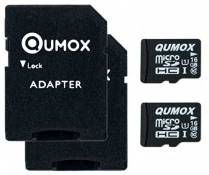 2pcs Pack QUMOX 16GB MICRO SD MEMORY CARD CLASS 10 UHS-I 16 GB 16Go Go carte memoire HighSpeed Write Speed 12MB/S read speed upto 70MB/S