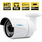 Reolink RLC-410-LB IP Security Camera 4MP 1440P POE Security IP Camera Outdoor Fixed Bullet, Motion Detection, Night Vision 65-100ft, No Need Power Adapter