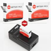 2 batteries + chargeur pour gopro hero 4