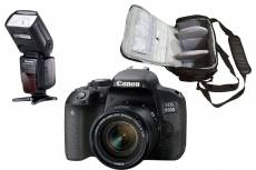 Canon EOS 800D Kit + 18-55mm IS STM + Sac + Flash