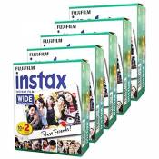 Fujifilm Instax Wide – Set de 5 boîtes de 20 pellicules (100 photos format large) pour Fuji Instax 210 200 100 300 Instant Photo Camera