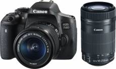 Canon EOS 750D Kit + 18-55 IS STM + 55-250 IS STM