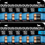 "DURACELL Lot de 10 Blisters de 2 piles photo""Ultra"" Lithium DL 123 A"