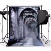 UK STOCK Toile de Fond 1.5*2.1m Photographie Studio Photo Motif de Sombre Château