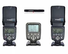 YONGNUO YN560 Ⅳ 2.4GHZ Flash Speedlite Wireless Transceiver Integrated x 2 + Yongnuo YN560-TX Wireless Flash Controller and Commander for YN-560III YN