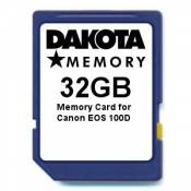 32GB Memory Card for Canon EOS 100D