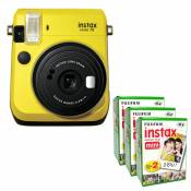 Fujifilm Caméra Fuji Instax Mini 70 Jaune Photo Instant + 60 Film