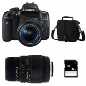 Canon Pack Eos 750D + 18-55 Is Stm + Sigma 70-300 Dg Macro + Sac + Sd 4Go
