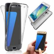 Coque Samsung Galaxy S6 Edge Plus Etui,Vandot Ultra Mince Housse Samsung Galaxy S6 Edge Plus Silicone Transparent Case pour Samsung Galaxy S6 Edge Plus Coque de Protection en TPU avec Absorption de Choc Bumper et Anti-Scratch Cover Couvertrue-Noir