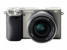 Sony a6000 ILCE-6000L - Appareil photo numérique - sans miroir - 24.3 MP - APS-C - 1080p / 60 pi/s - 3x zoom optique object Power Zoom de 16-50 mm - Wi-Fi, NFC - gris graphite