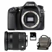 CANON EOS 80D + SIGMA 17-70 Contemporary + Sac + SD 4Go
