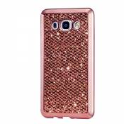 KSHOP Etui pour Samsung Galaxy J1 (2015) J100 J100H Bling TPU Gel Coque Ultra Mince Case Cover avec Cadre de Galvanoplastie Telephone Portable Soft Housse Cas Prime Flex Silicone Shell Coquille Couvrir Coverture Pare-Chocs Anti-Choc Skin Protection Bumper - Or Rose