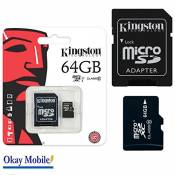 Acer kingston carte mémoire microSD 64Go pour microsoft lumia 950 x 950 xL - 64Go