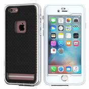 Coque Waterproof iPhone 6 / iPhone 6s 4.7 inch, Findagift Water/Snow/Dust/Dirt Proof Full Cover-body Anti-Poussière Robuste Military Étanche Antipoussière Bumper Back Housse Etui pour iPhone 6 / iPhone 6s 4.7 inch Smartphone (Noir + Blanc)