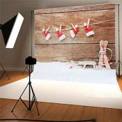 KING DO WAY 2.1x1.5 Mètres Tissu De Fond Professionnel Décors Pour Studio Photo Photographie Contexte Photography Background-Noël