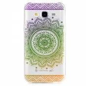 KSHOP Etui cas TPU silicone pour Samsung Galaxy J5(2015) Coque Case Cover Housse de protection Shell avec mince motif d'impression - Indian Saint Flower Mandala vert