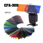 Falcon Eyes 30 K CFA Kit flash Speedlite 30 colors Color Gel Kit with Bar Door & REFLECTOR & Bag for Canon Nikon Yongnuo Godox Flash