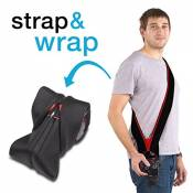 Miggo Strap & Wrap de Miggo Sangle pour Appareil photo Reflex Noir/Rouge