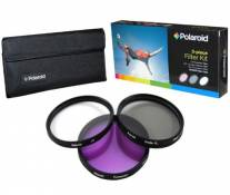 Polaroid Optics Ensemble de 3 filtres 82 mm (UV, CPL, FLD)
