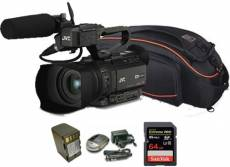 Kit Camcorder GY-HM170 JVC 4K ULTRA HD with handled, microphone JVC MIC-QAN0067 + 1 Battery + 1 Battery charger + 1 Memory Card Sandisk 64Gb - 95Mb +