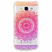KSHOP Etui cas TPU silicone pour Samsung Galaxy J5(2015) Coque Case Cover Housse de protection Shell avec mince motif d'impression - iindisches Holy Flower Mandala Rose
