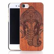 Vandot iPhone 6 6S Etui Cover iPhone 6 6S Coque Natural Wood Hard en Bois Case Deisgn Fanty l'espace Style Case Etui Coquille Natural Original Bois Wo