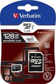 Verbatim - Flash Card MicroSDXC, 128GB, UHS-I Class 10, Noir