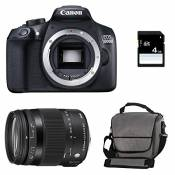 CANON EOS 1300D + SIGMA 18-200 OS Contemporary + Sac + Carte SD 4Go