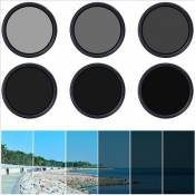 3in1 62mm Variable Neutral Density Fader ND Filter Filtre ND2 ND8 ND16 to ND400 LF305-EN