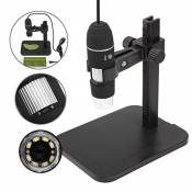 GVESS 1000X 8 LED 2MP USB Appareil photo num¨¦rique Microscope endoscope Magnifier + Lift Stand