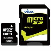 Vida IT Nouvelle 8Go Carte mémoire Micro SDHC pour Alcatel - One Touch Tab 8 HD - One Touch T'Pop - One Touch X'Pop - OT-385 Téléphone Mobile - Tablet
