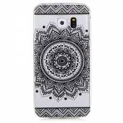 LTWS Etui cas TPU silicone pour Samsung Galaxy S6 Edge Coque Case Cover Housse de protection Shell avec mince motif imprimé - Saint Indian Flower Mand