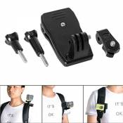 Fantaseal® Caméra Kit Clip de Sac à dos mini clamp de ceinture 360 degrés rotatif + 1/4'' vis adapteur Support pour SONY FDR X-3000V X1000VR HDR AS 300 AS-10 Nikon Canon Pentax Olympus Panasonics Lumix Casio /GoPro Hero 5 Black/ 4 /3+/3/ Session etc