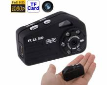 (#33) T9000 Full HD 1080P Mini Digital Video Camcorder, Support TF Card, Built-in Lithium Battery(Black)