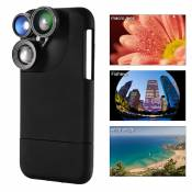 4in1 Camera Lens Wide Angle + Macro + Fisheye +Telephoto Case for iPhone 7 DC750
