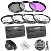 Neewer 58mm Professionel Objectif Filtre et Macro Gros Plan Kit pour Canon EOS 400D 450D 1000D 500D 550D 600D 650D 700D 100D 1100D Nikon Sony Samsung