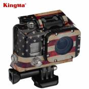 CNYO® KingMa Gopro Case Sticker TMC American Flag Case Sticker For Gopro Hero 3 Go Pro Water Camera Housing Christmas Gift