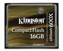 Kingston CF/16GB-U3 Carte CompactFlash Ultimate 600x - 16 Go