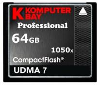 Komputerbay 64GB Professional CARTE COMPACT FLASH CF 1050X écrire 100 Mo / s en lecture 160 Mo / S Extreme Speed UDMA 7 RAW 64 Go