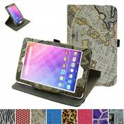 Rotating Coque Pour Acer Iconia One 8 B1-820 / B1-830,Mama Mouth 360 Degree Rotating PU Cuir debout Fonction Housse Coque Étui Couverture pour Acer Ic