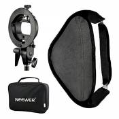 Neewer Photo Studio Multifunctional 16x16 inches/40x40 Centimeters Softbox with S-Type Speedlite Flash Bracket Mount and Carrying Case for Portrait Or
