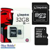 Acer kingston carte mémoire microSD 32Go pour samsung galaxy duos j5–32Go