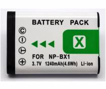 NP-BX1, NPBX1 High Power Plus+ 1240mAh Replacement Lithium Li-on Digital Camera Battery for Sony RX1