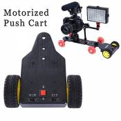 QUMOX SK-MS01 Dolly Tracteur motorisé Push Cart DSLR vidéo Gopro Hero Caméra Trolley Car friction Dolly Skater reposer bras jambes stabilisatrices ral